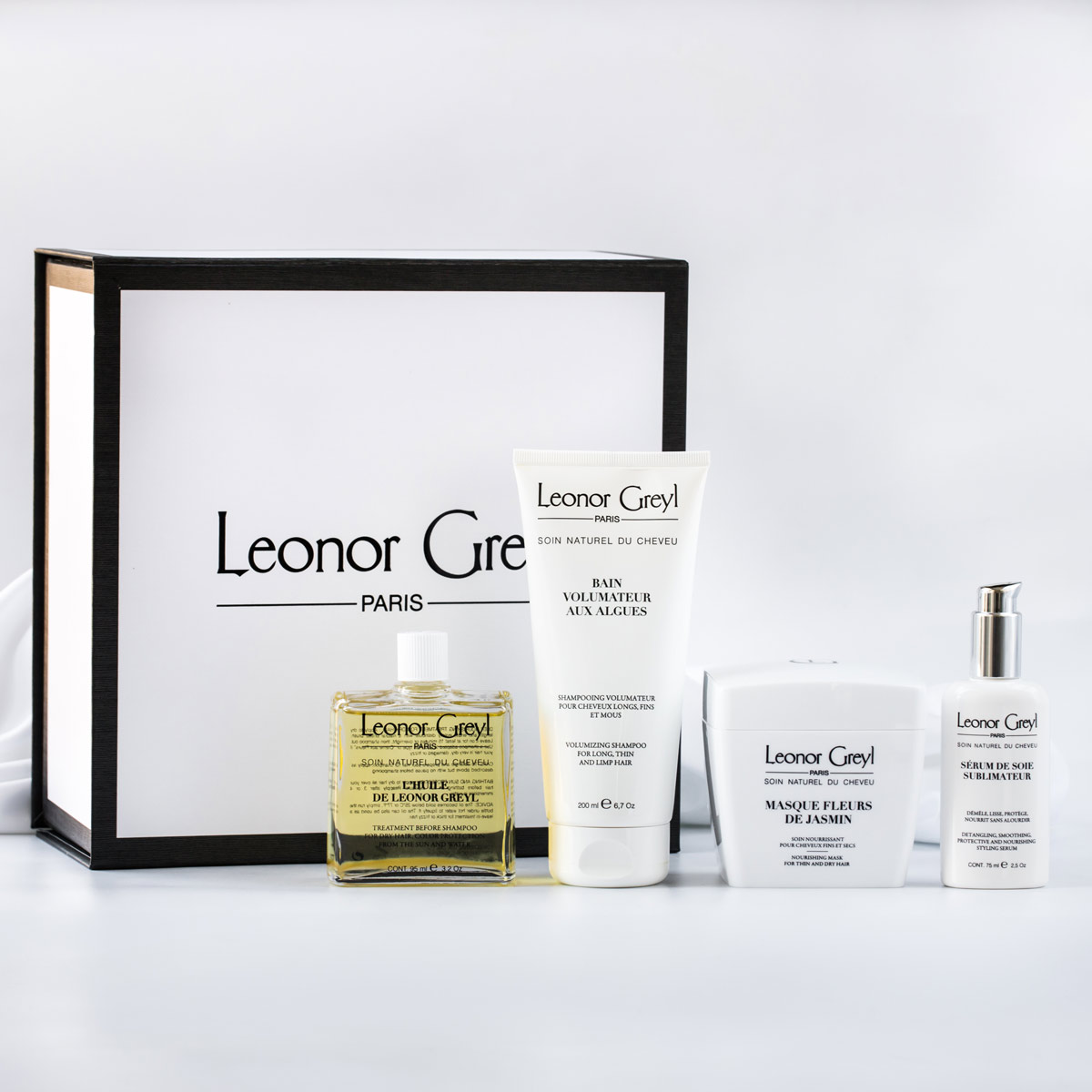 Collection includes best shampoo for thin dry hair | Leonor Greyl