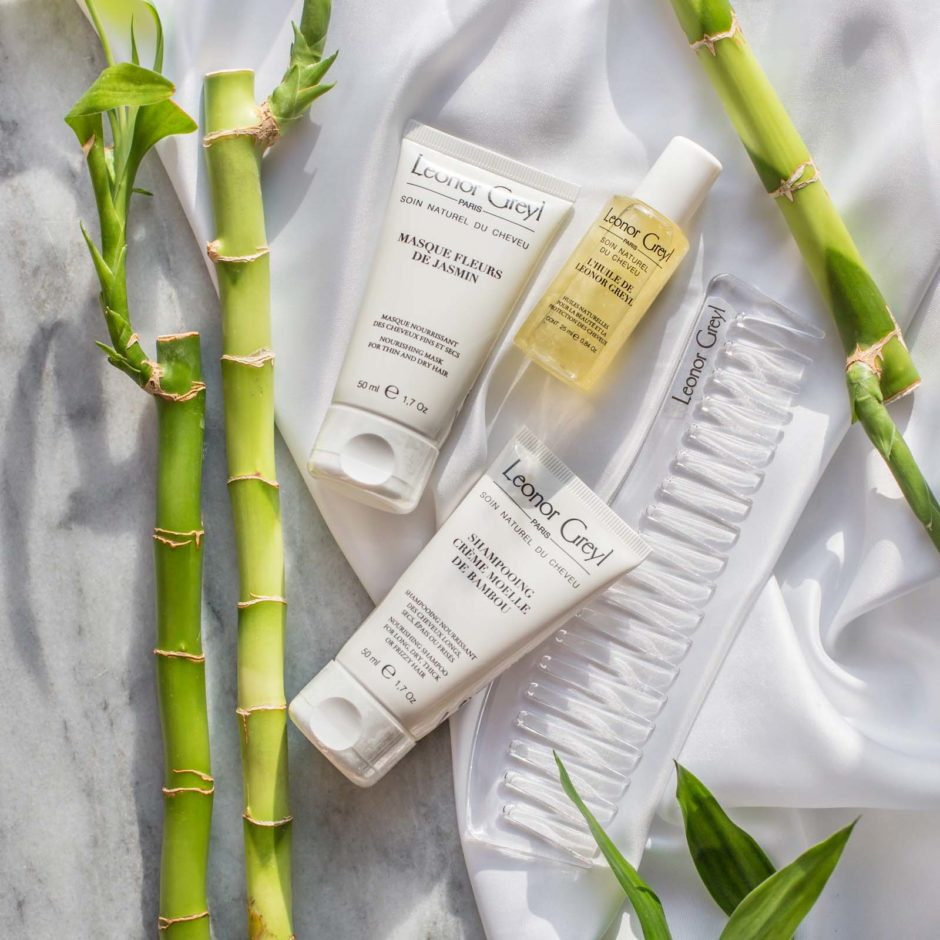 Leonor Greyl Travel Kit for Dry Hair with bamboo