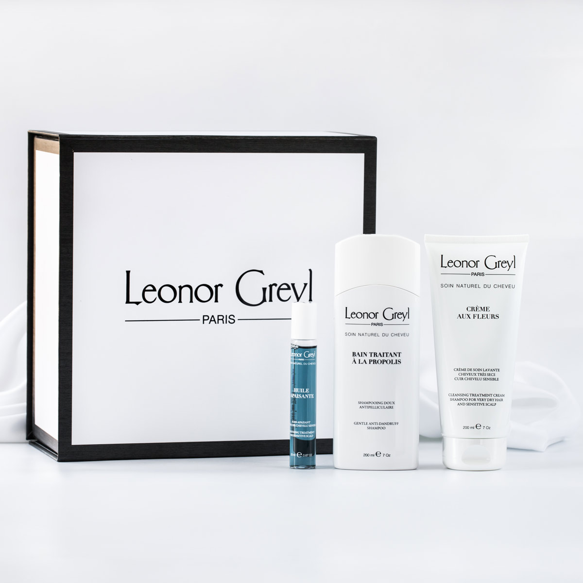 Our best oil for dry scalps + shampoo for sensitive scalps   Leonor Greyl