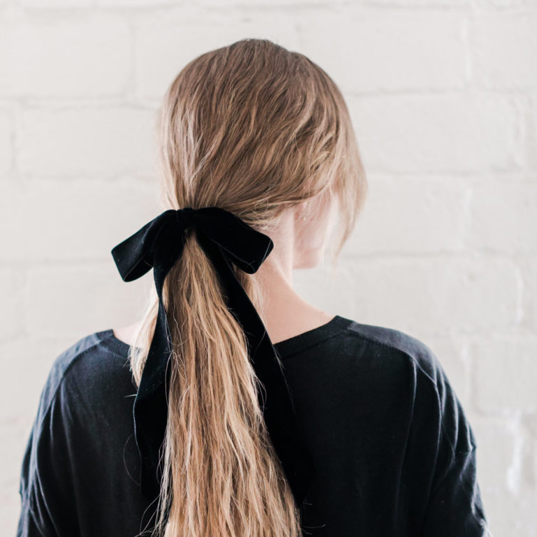 ponytail style with Leonor Greyl products