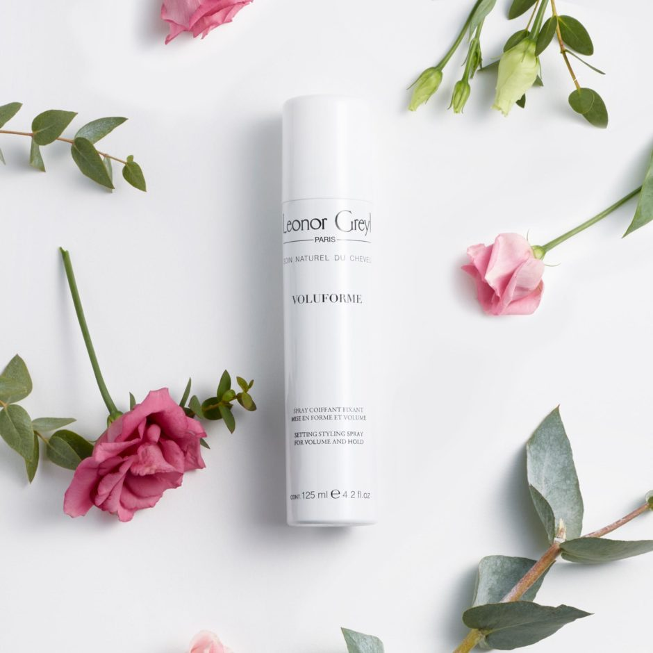 voluforme by leonor greyl with pink flowers and greenery
